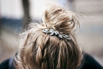 blonde, brunette, bun, fashion