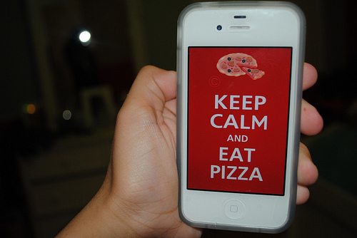 branco, color, eat, food, foto, fotografia, iphone, keep calm, photo, photography, pizza, red, vermelho, white