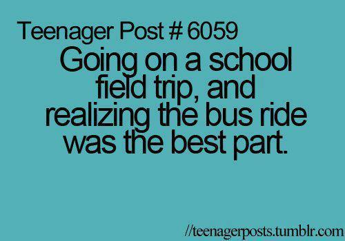 bus, quote, school, teenager