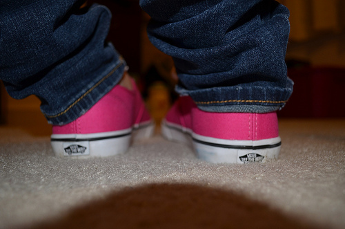 cute, hipster, indie, photography, pink, shoes, vans