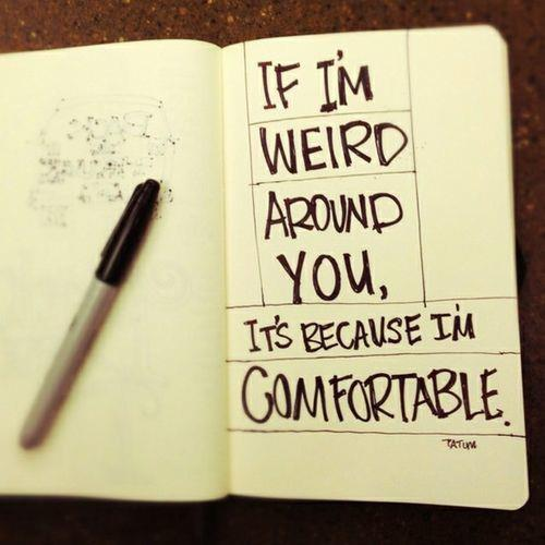 Weird Funny Love Quotes : text, weird, words - image #540969 on Favim.com