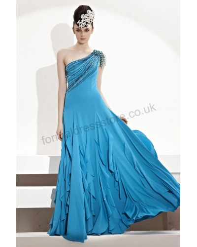 2013 blue layered flouncing cocktail dress b330