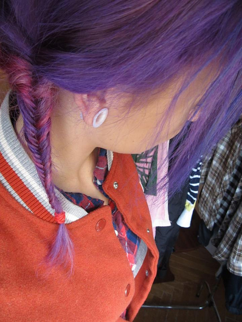 colors, hair, purple