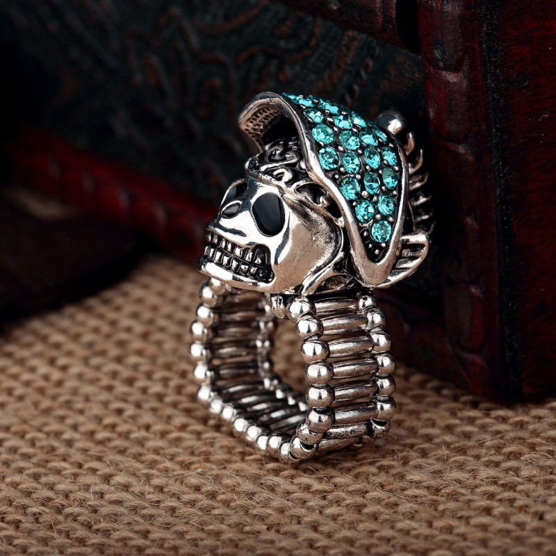 cool, fashion, gold plated skull ring and helmet skull ring