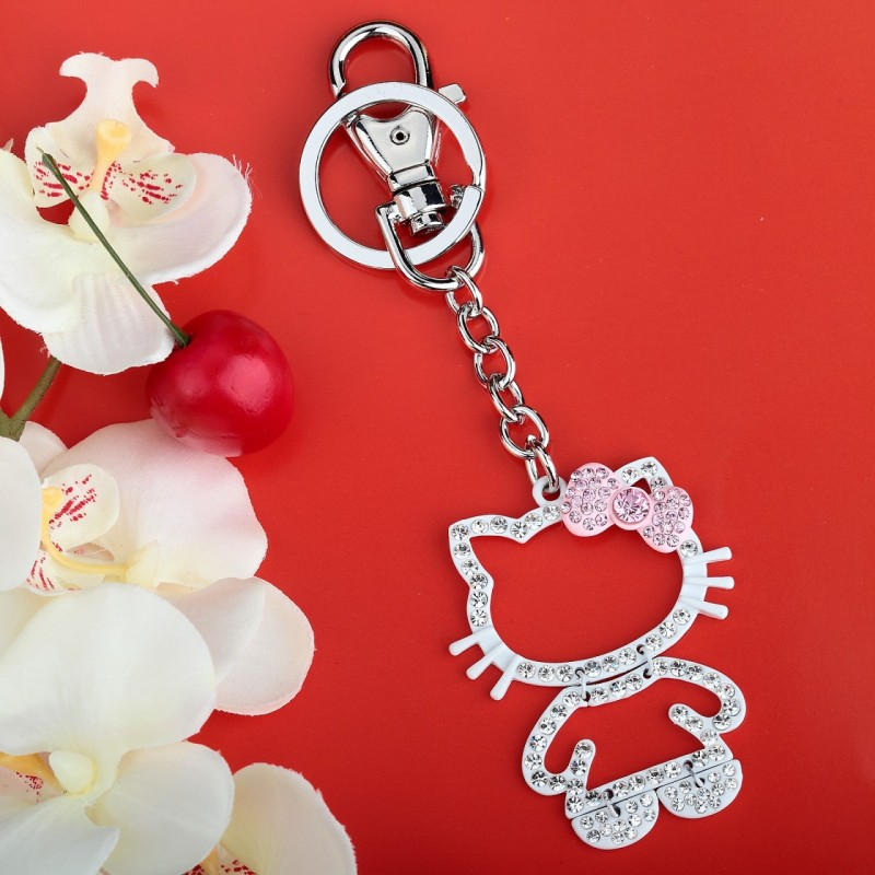 beauty, bow cat key chain, bow cat key ring and bow key ring
