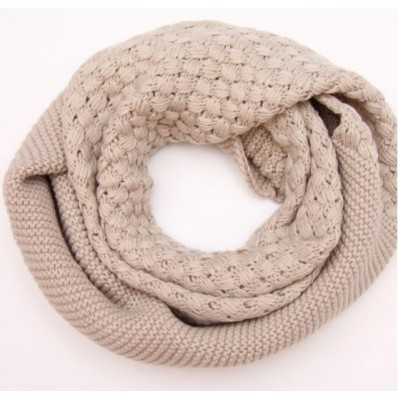 cable knit shell pattern snood scarf USD1039 - image #571583 on Favim.com