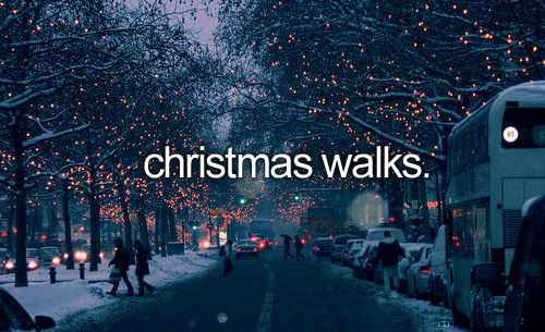 christmas walks, snow, street, christmas