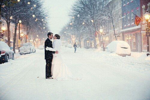 couple, christmas, winter, snow