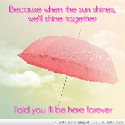 couples, cute, love, pretty, quote, quotes, rihanna, umbrella, umbrella lyrics