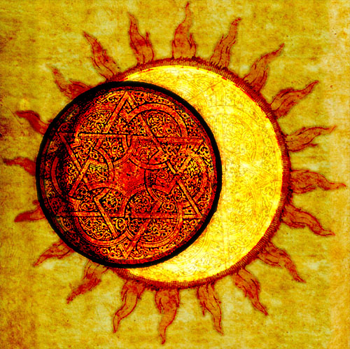 art, cool, eclipse, orange, sun, yellow