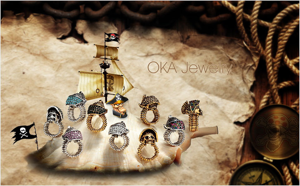 fashion skull ring, helmet skull ring, helmet soldier ring and skull cocktail ring