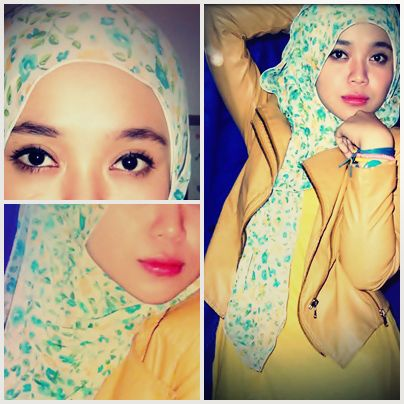eyes, girl, hijab, lip, me, yellow