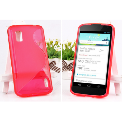 half transparent tpu back case for google nexus 4 $9.29