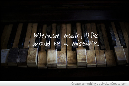 cute, inspirational, love, music life, music inspirational quote ...