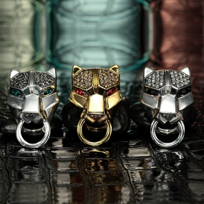 circle leopard ring, knocker leopard cocktail ring, knocker leopard ring and leopard cocktail stretch ring