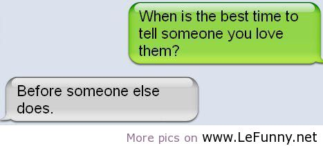 how to tell someone you love them through text message