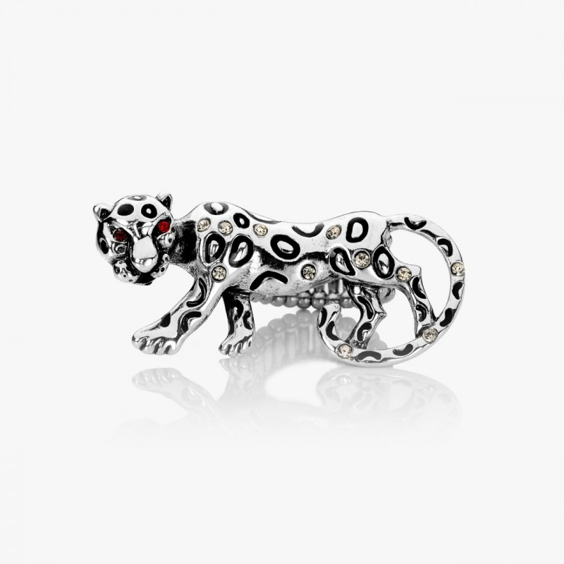 animal stretch ring, baby leopard ring, leopard cocktail ring and leopard ring