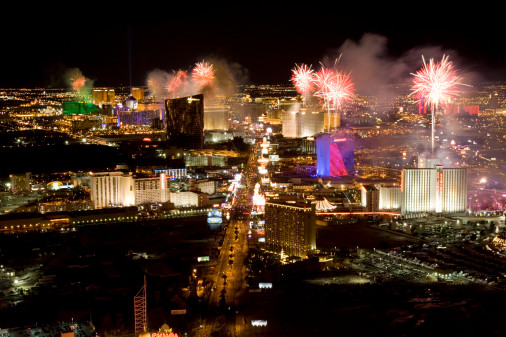new year, new years eve, vegas, fireworks
