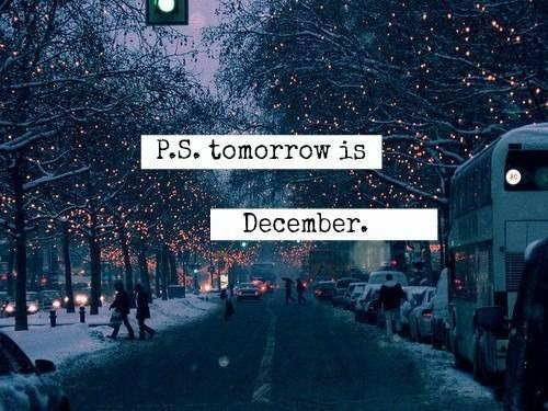 december, tomorrow