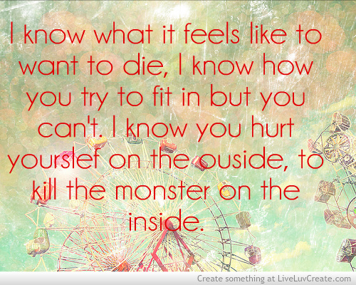 Sad Hurtful Quotes : bad, cute, hurtful, kill the monster, love, pretty, quote, quotes, sad
