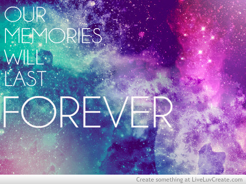 cute, galaxy, love, our memories, pretty, quote, quotes, stars, vintage
