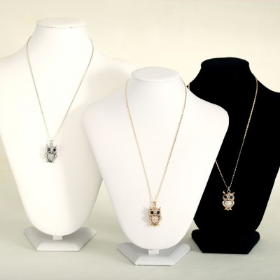 animal necklace, animal pendant necklace, crystal necklace and owl necklace