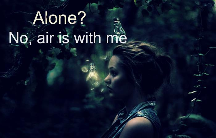 air, alone, dark, girl
