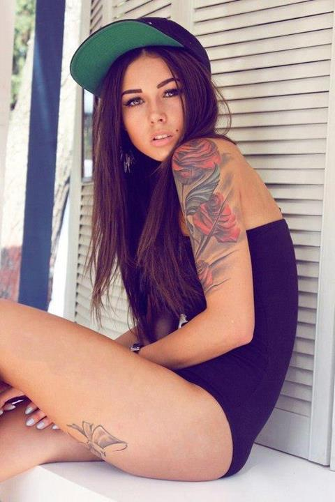 sexy girls with brown hair