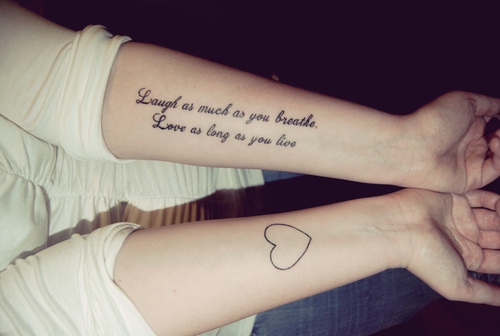 Quote Tattoos On Arm
