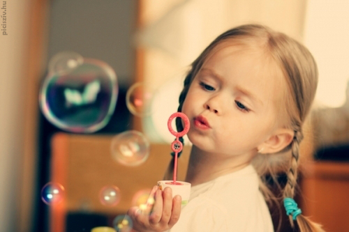 baby, bubble, cute, girl