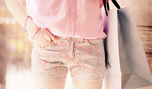 bag, blossom, blouse, bracelet, fashion, flower, flowerprint, girl, jewelry, love, orange, pastel, photography, pink, purple, red, shopping, shorts, style, summer, vintage