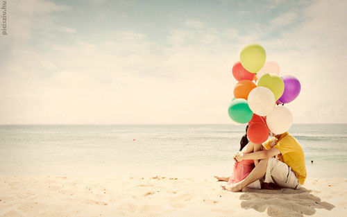 balloons, beautiful, boy, girl