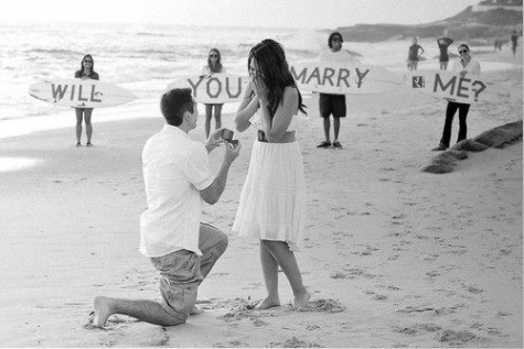 beach, couples, cute, engage, engagement, love, lovers, marry, proposal, relationships, ring, shock, surprise, wedding, wedding proposals