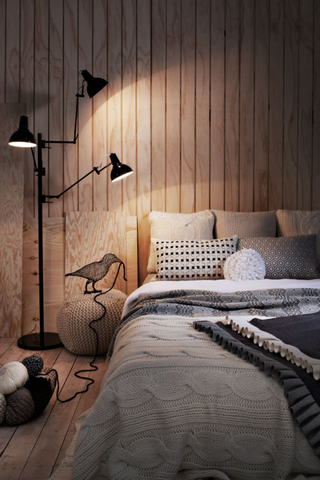 beautiful, bed, bedroom, bird, comfy, cosy, cute, decor, design, home, interior, light, style, wood