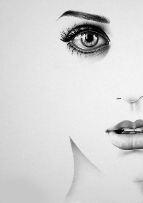 Beautiful black and white drawing eyes image 596263 for Beautiful drawings tumblr