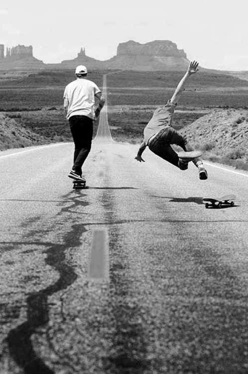 black and white, cute, love, skateboard - image #595569 on ...