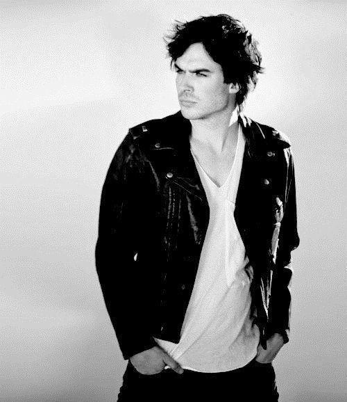 black and white, ian somerhalder