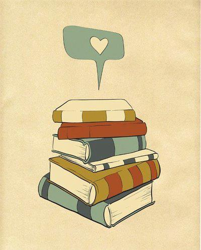 books, cute, illustration, love