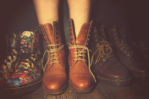boots, floral, flowers, hipster
