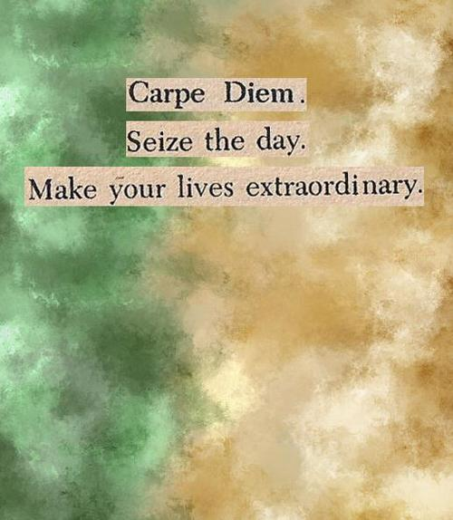 carpe diem and how it relates Define carpe diem: the enjoyment of the pleasures of the moment without concern for the future — carpe diem in a sentence.