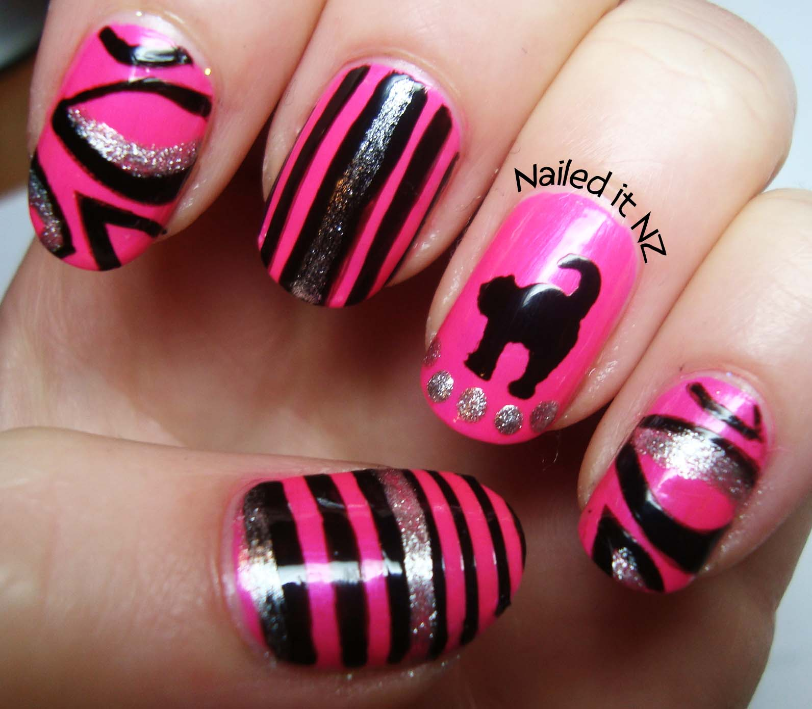 hot designs nail art ideas hot designs nail art re re new hot pink - Hot Designs Nail Art Ideas