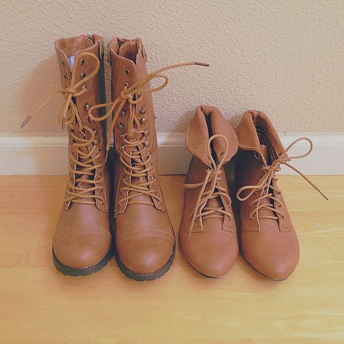 Perfect Brown Combat Boots On Tumblr