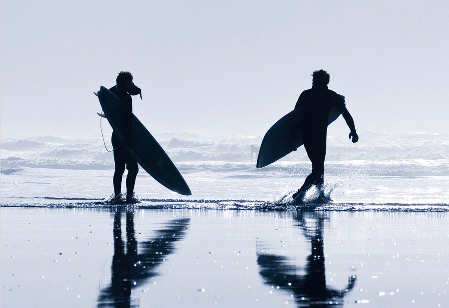 cool, guys, ocean, silhouettes, summer, surfer, surfing, water