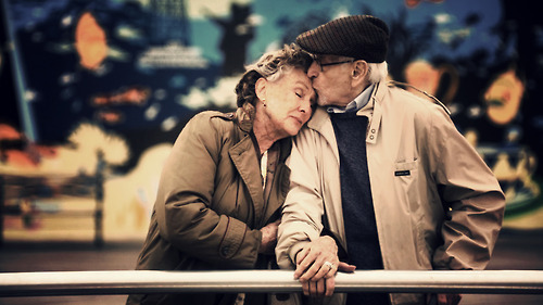 couple, cute, family, old
