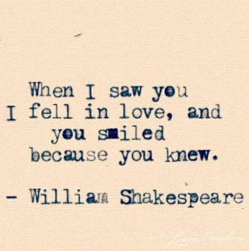 cute, love, phrase, quote, quotes, shakespeare, smiled, text, william ...