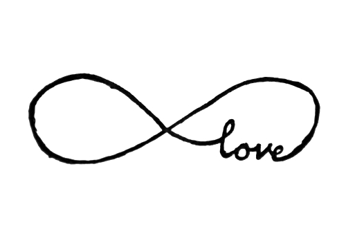 Infinity Sign with Love Tattoo