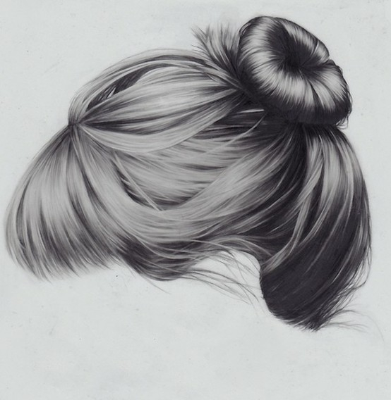 drawing, fashion, girl and hair