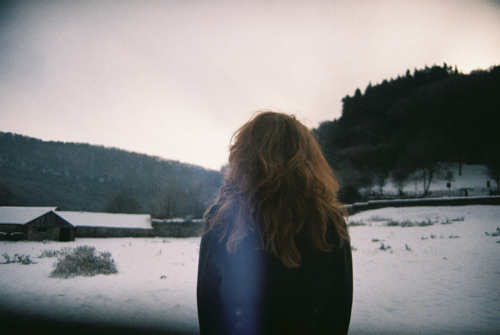 girl, hair, hipster, snow