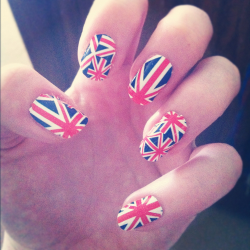 britain, british, british flag, england, english, great britain, london, nail foil, nail polish, nails, union jack