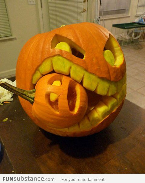 Halloween amazing art badass image 589535 on Awesome pumpkin drawings